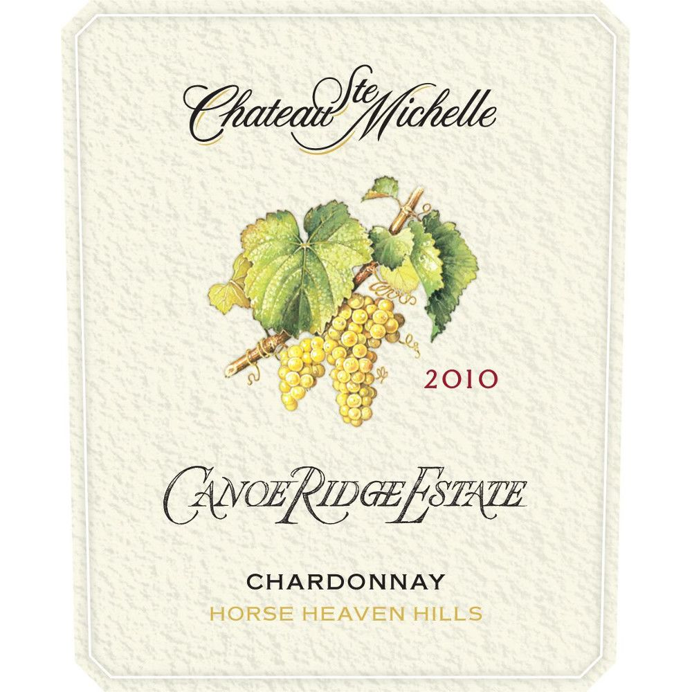 Chateau Ste. Michelle Canoe Ridge Estate Vineyard Chardonnay 2010 Front Label
