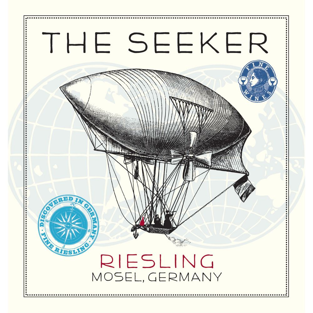 The Seeker Riesling 2012 Front Label