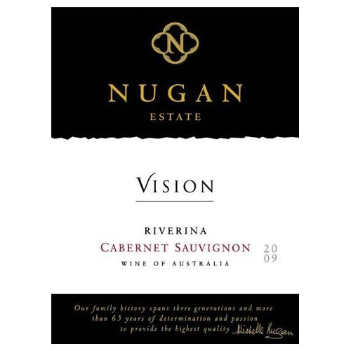 Nugan Estate Vision Cabernet Sauvignon 2009 Front Label