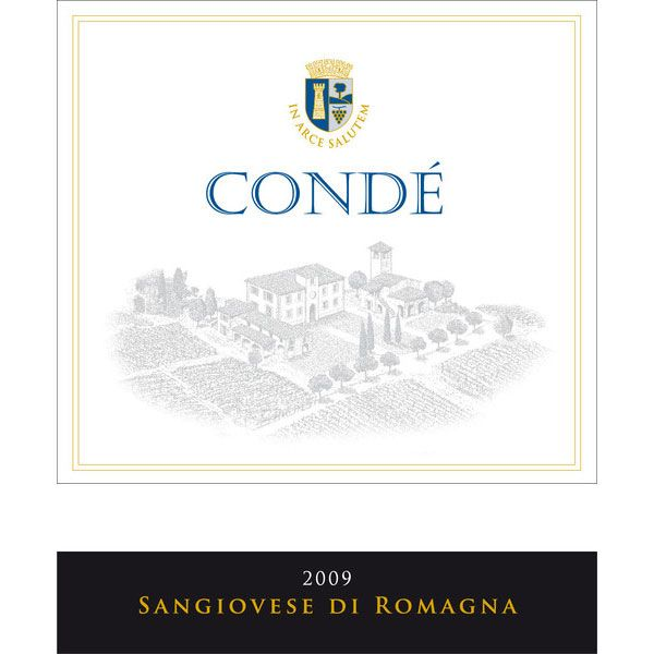 Conde Black Label Sangiovese 2009 Front Label