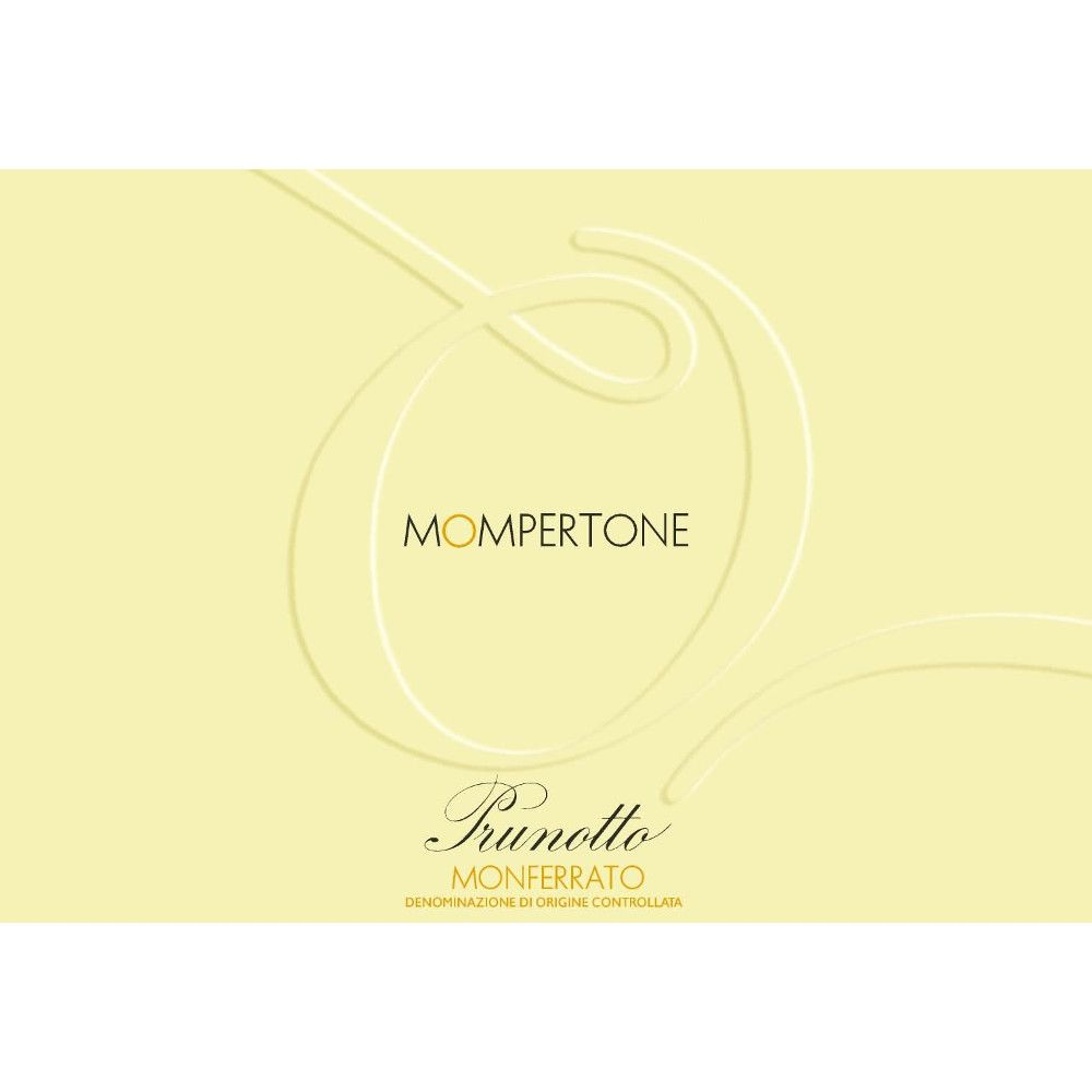 Prunotto Mompertone Monferrato 2010 Front Label