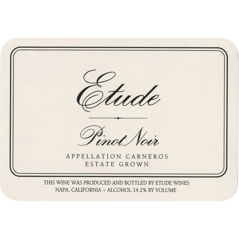 Etude Carneros Estate Pinot Noir (375ML half-bottle) 2010 Front Label