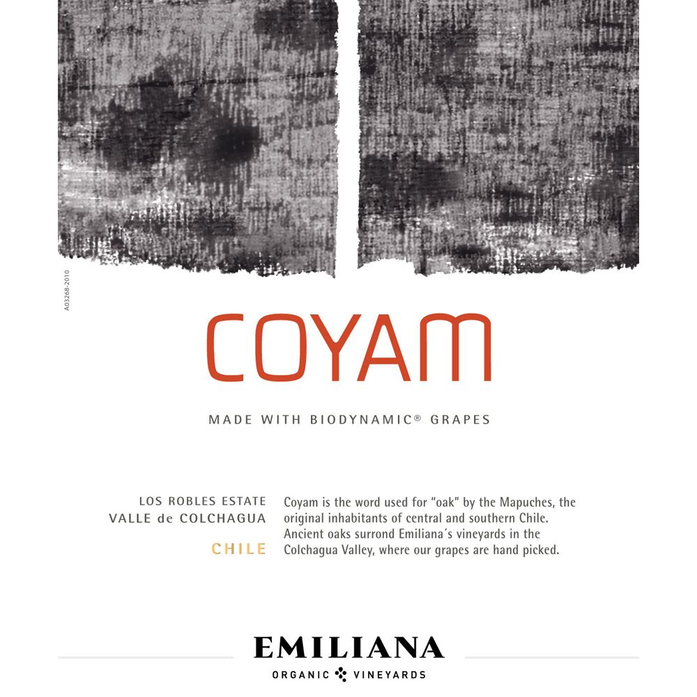 Emiliana Coyam (Certified Biodynamic) 2010 Front Label