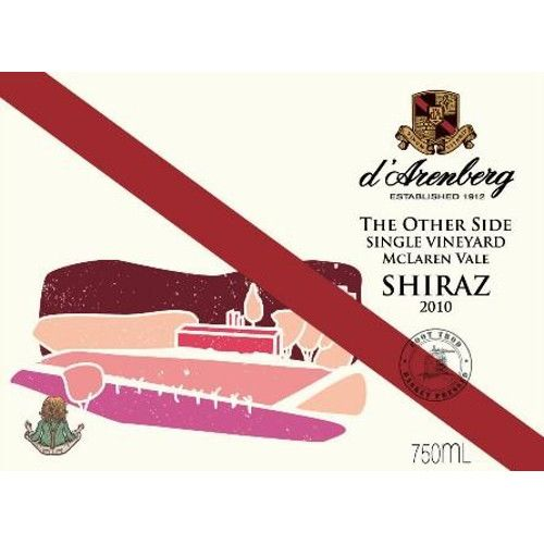 d'Arenberg The Other Side Shiraz 2010 Front Label