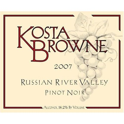Kosta Browne Russian River Pinot Noir 2007 Front Label