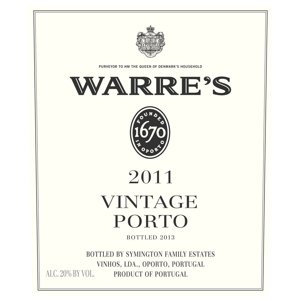 Warre's Vintage Port (375ML half-bottle) 2011 Front Label