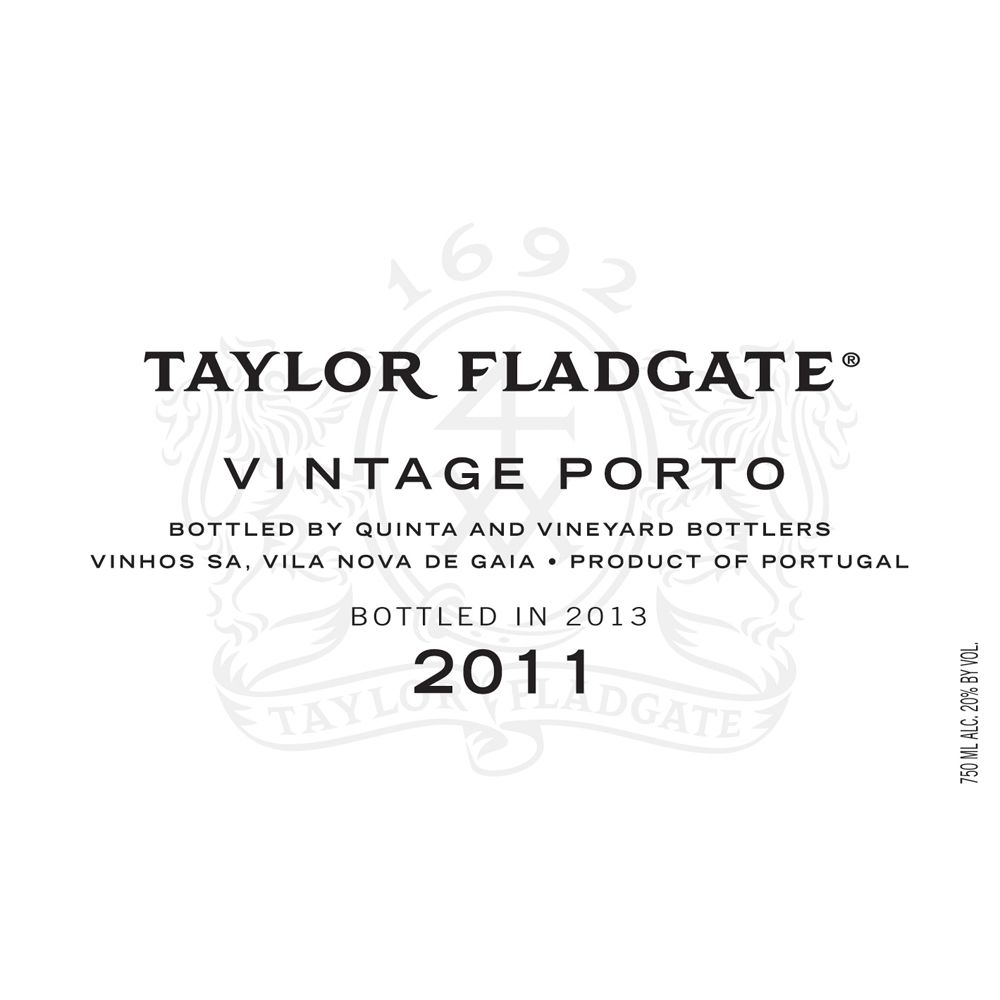 Taylor Fladgate Vintage Port (375ML half-bottle) 2011 Front Label