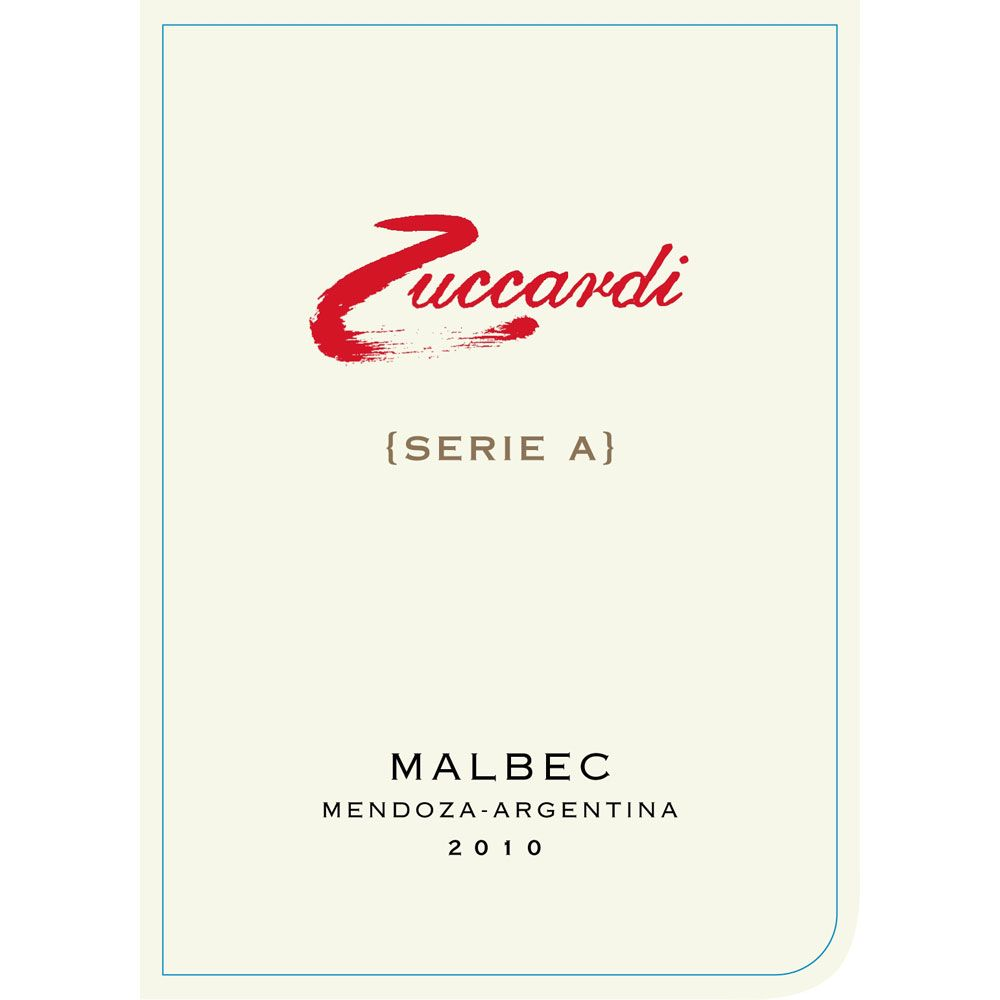 Zuccardi Serie A Malbec 2010 Front Label