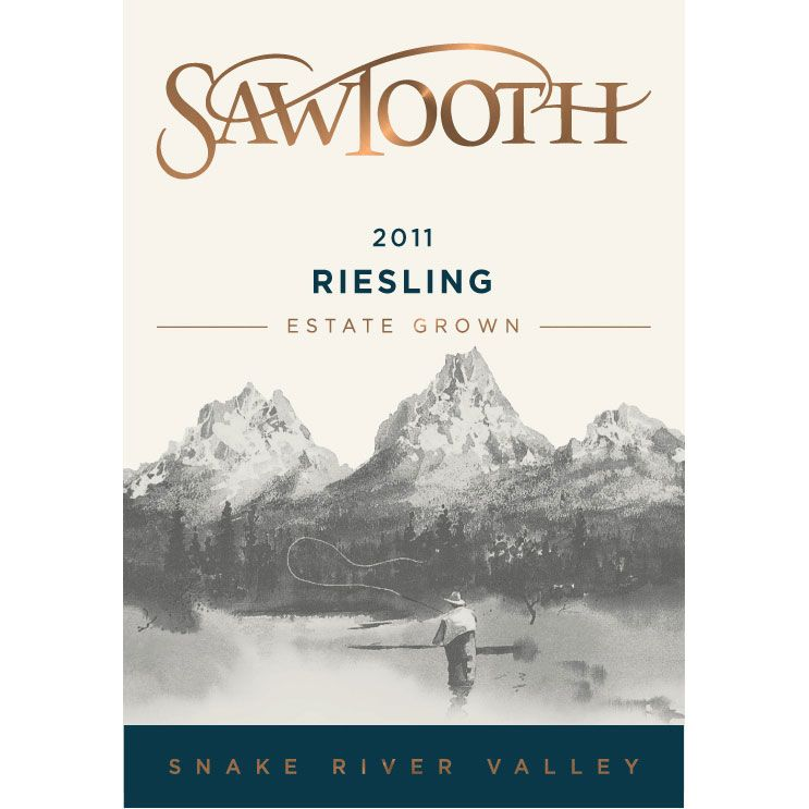 Sawtooth Riesling 2011 Front Label