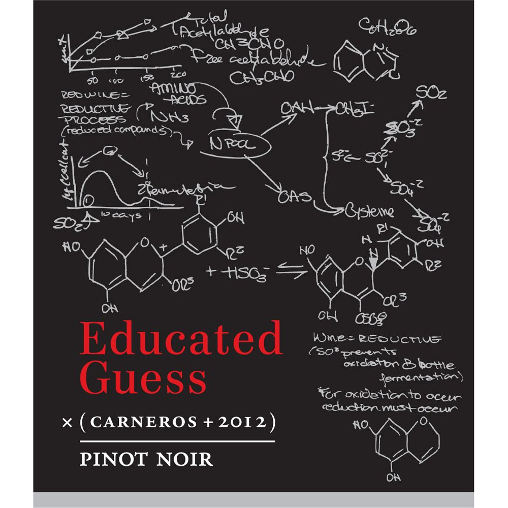 Roots Run Deep Educated Guess Pinot Noir 2012 Front Label