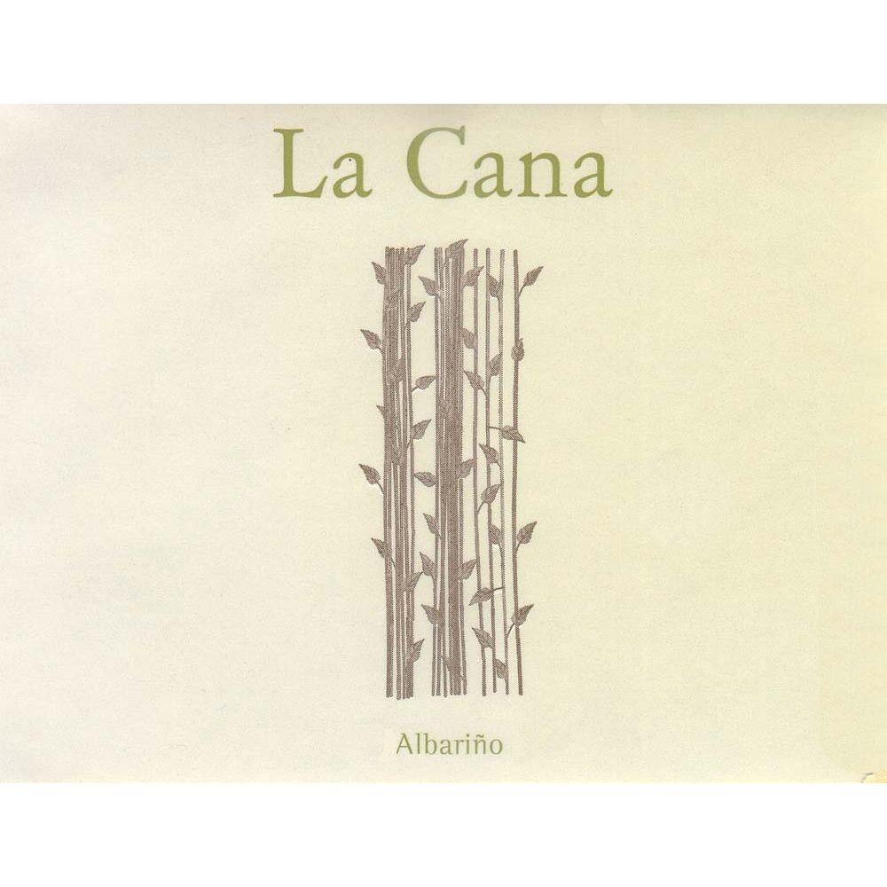 La Cana Albarino (375ML half-bottle) 2012 Front Label