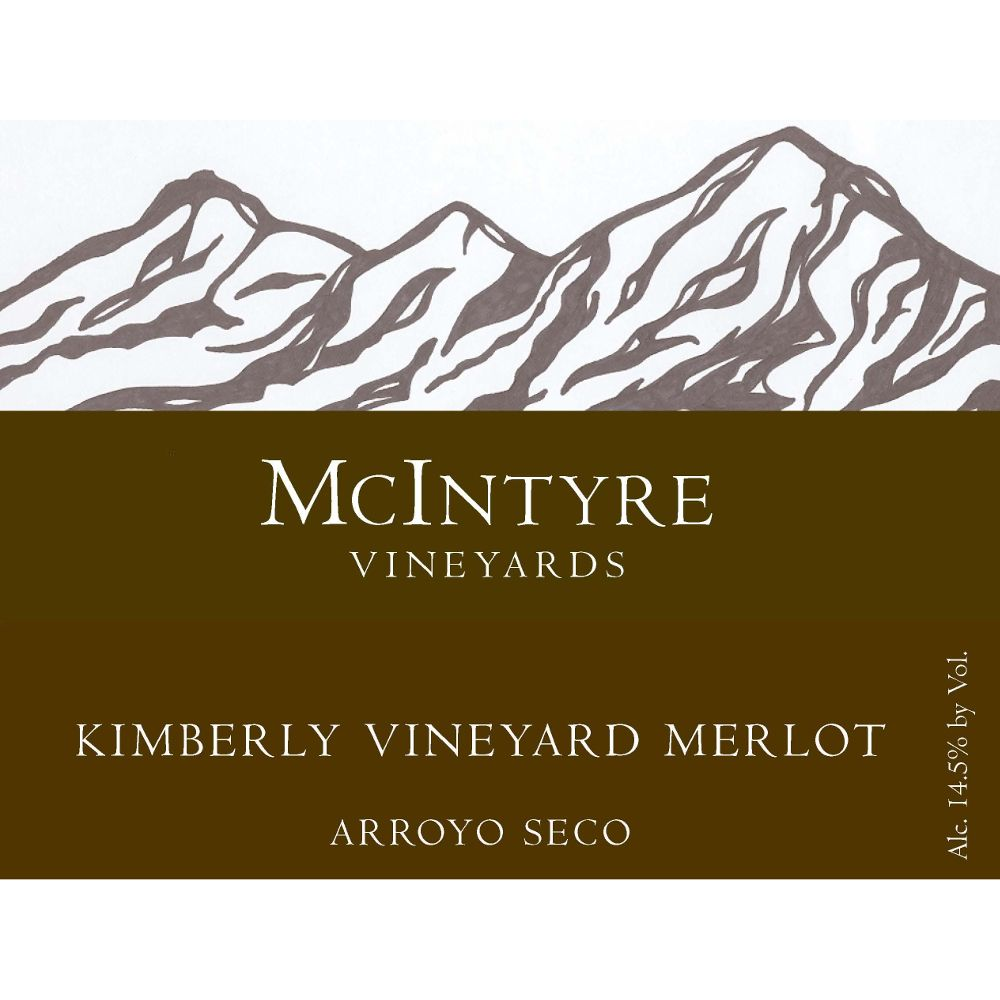 McIntyre Kimberly Vineyards Merlot 2011 Front Label