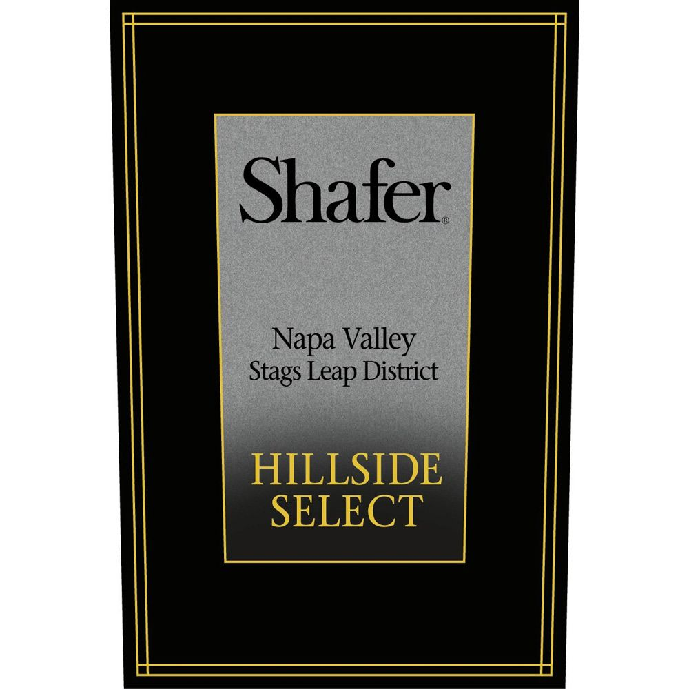 Shafer Hillside Select Cabernet Sauvignon 2009 Front Label