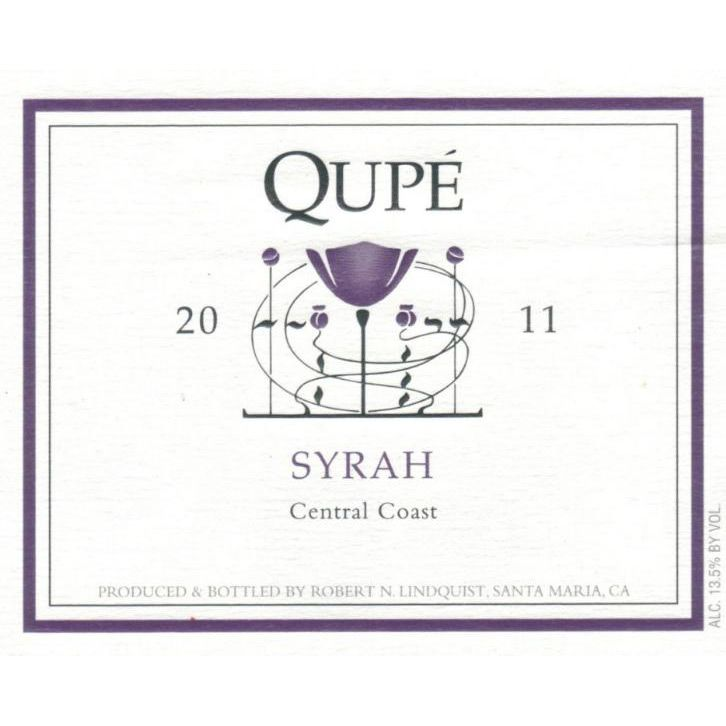 Qupe Central Coast Syrah 2011 Front Label