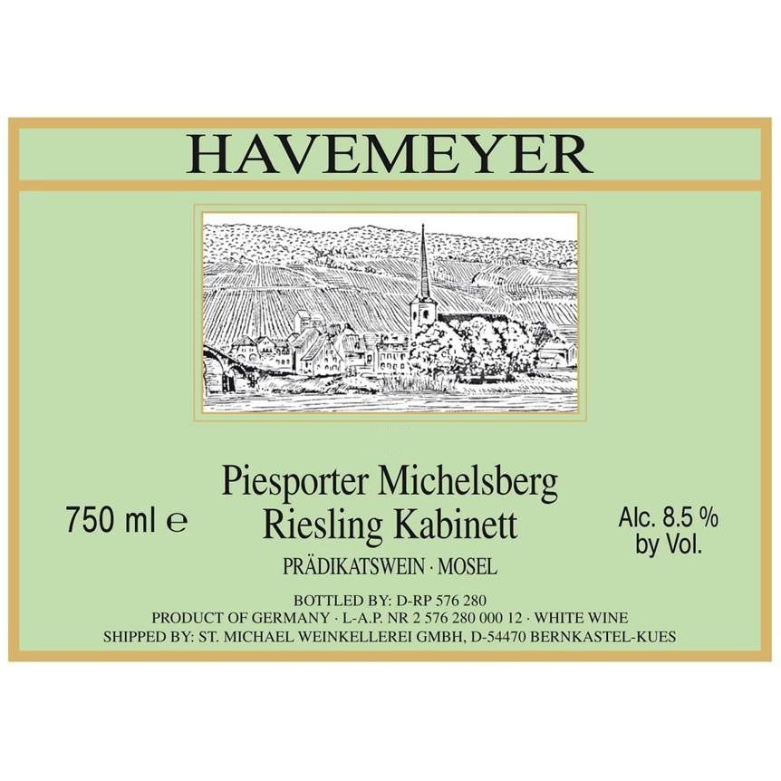 Havemeyer Piesporter Michelsburg Kabinett Riesling 2012 Front Label