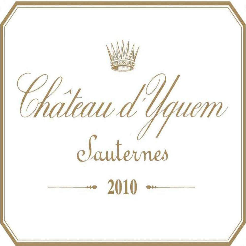 Chateau d'Yquem Sauternes (375ML half-bottle) 2010 Front Label