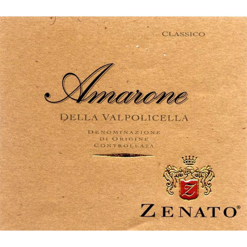 Zenato Amarone (375ML half-bottle) 2008 Front Label