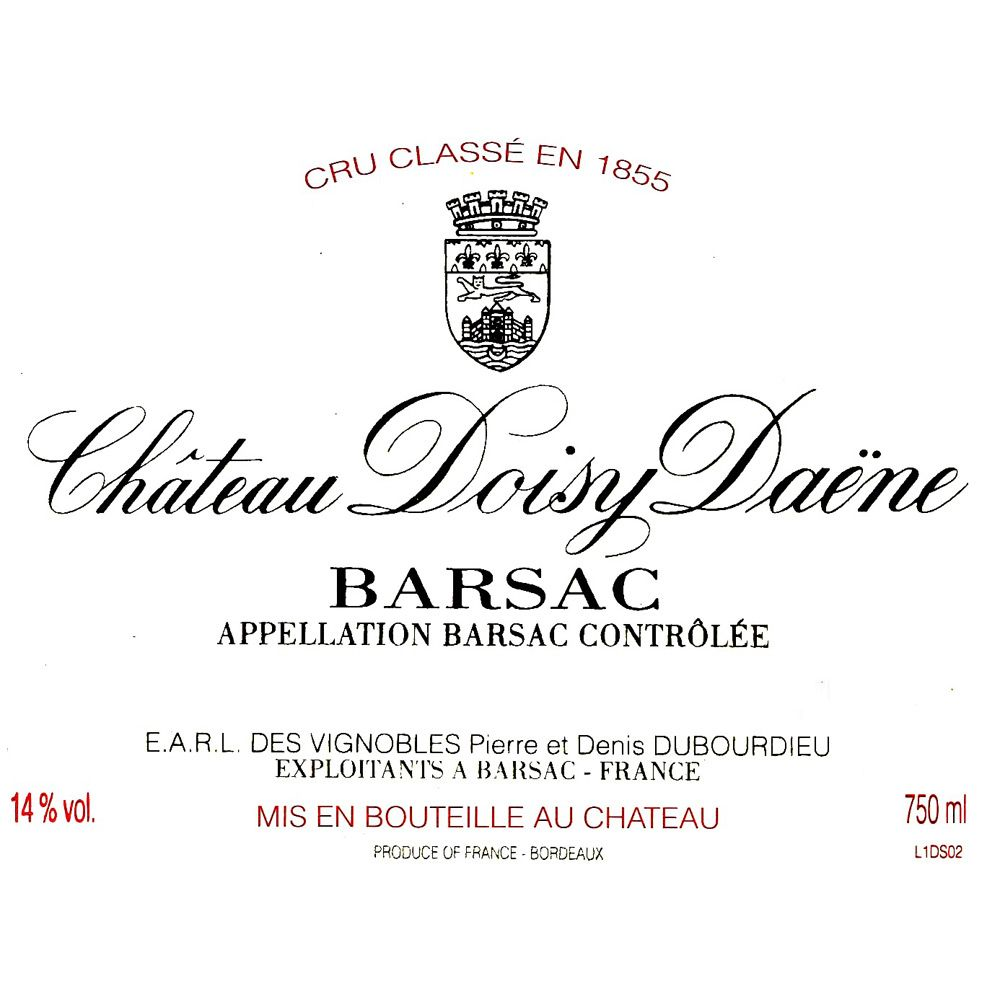 Chateau Doisy Daene (375ML half-bottle) 1983 Front Label