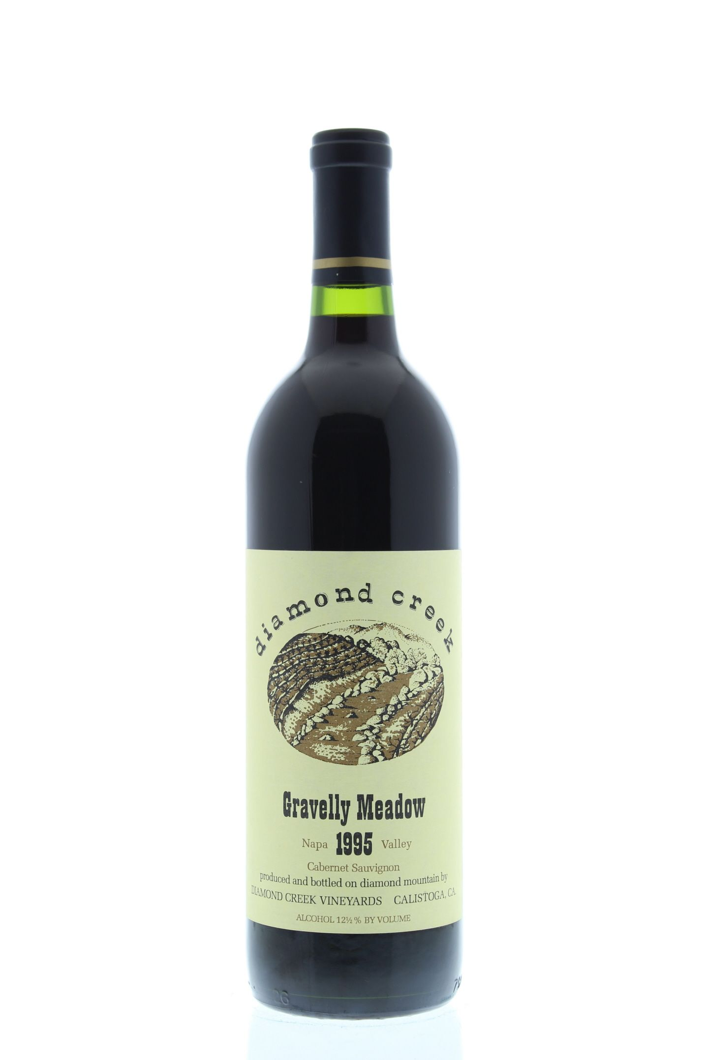 Diamond Creek Gravelly Meadow Cabernet Sauvignon 1995 Front Bottle Shot