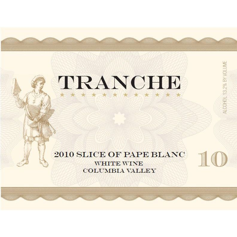 Tranche Cellars Slice of Pape Blanc 2010 Front Label