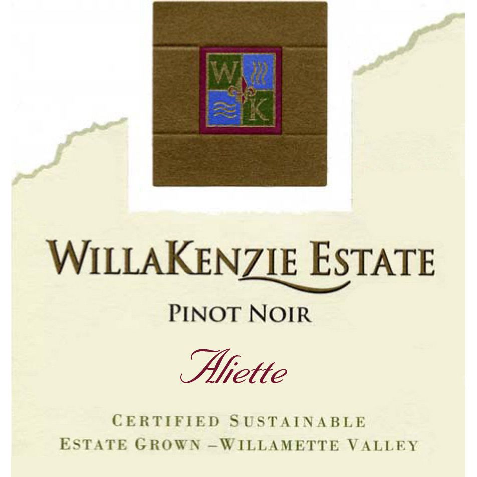 WillaKenzie Estate Aliette Pinot Noir 2010 Front Label