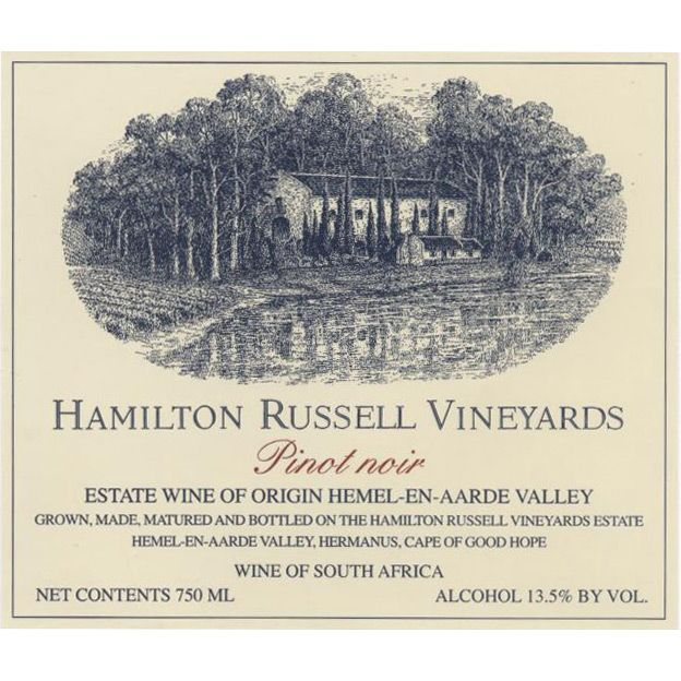 Hamilton Russell Pinot Noir 2011 Front Label