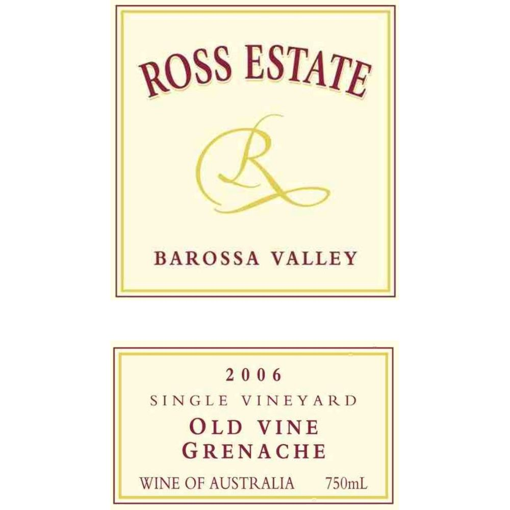 Ross Estate Grenache 2006 Front Label