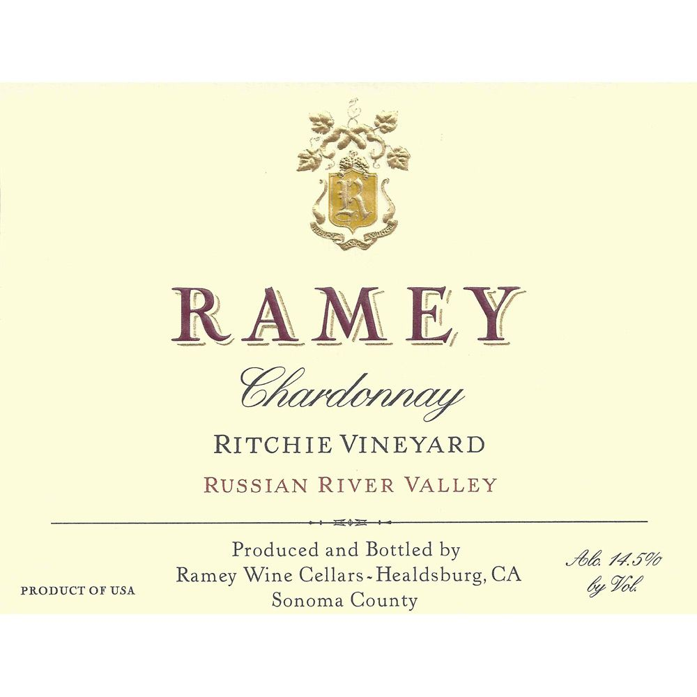 Ramey Ritchie Vineyard Chardonnay 2010 Front Label