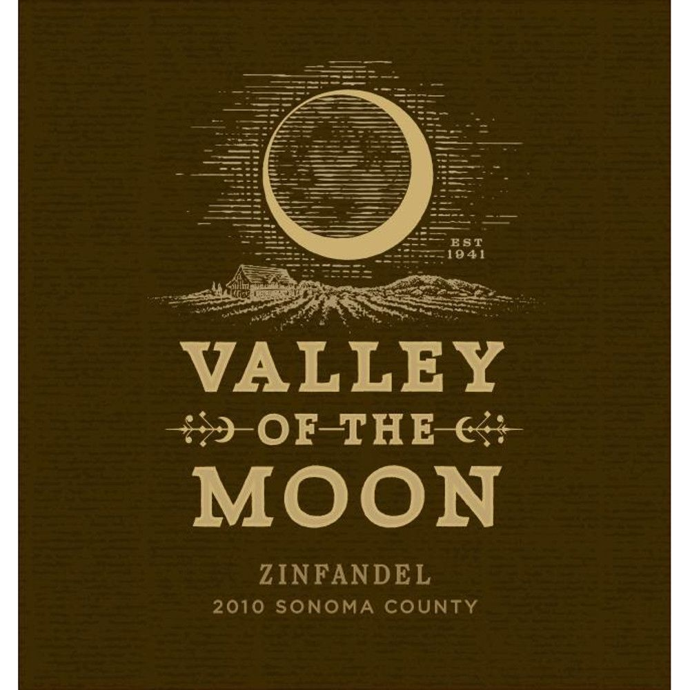 Valley of the Moon Zinfandel 2010 Front Label