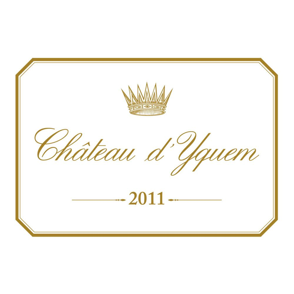 Chateau d'Yquem Sauternes (375ML half-bottle) 2011 Front Label