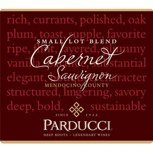 Parducci Small Lot Cabernet Sauvignon 2009 Front Label