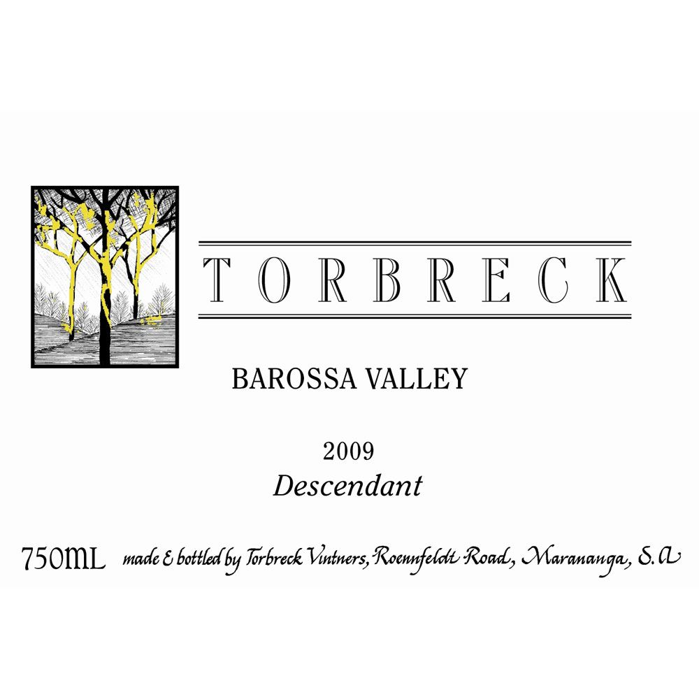 Torbreck Descendant Shiraz 2009 Front Label