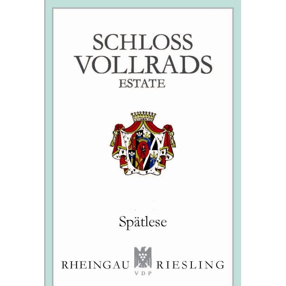 Schloss Vollrads Riesling Spatlese 2012 Front Label