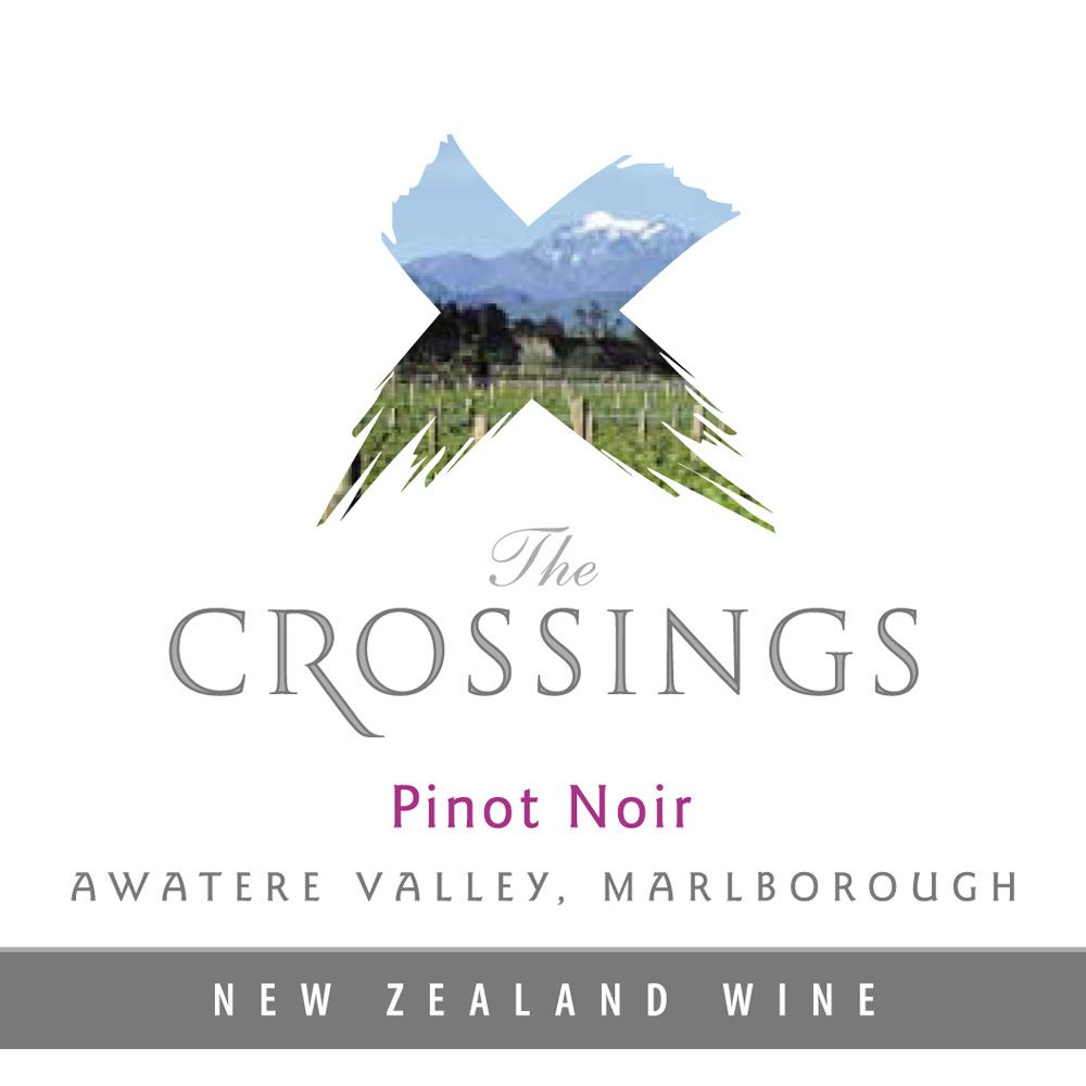 The Crossings Pinot Noir 2012 Front Label