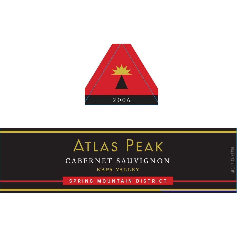 Atlas Peak Spring Mountain Cabernet Sauvignon 2006 Front Label