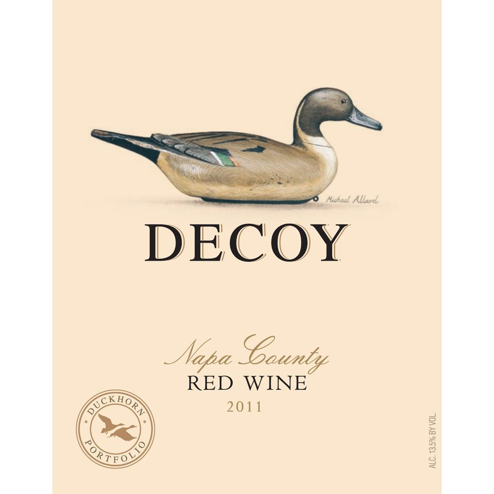 Decoy Red 2012 Front Label