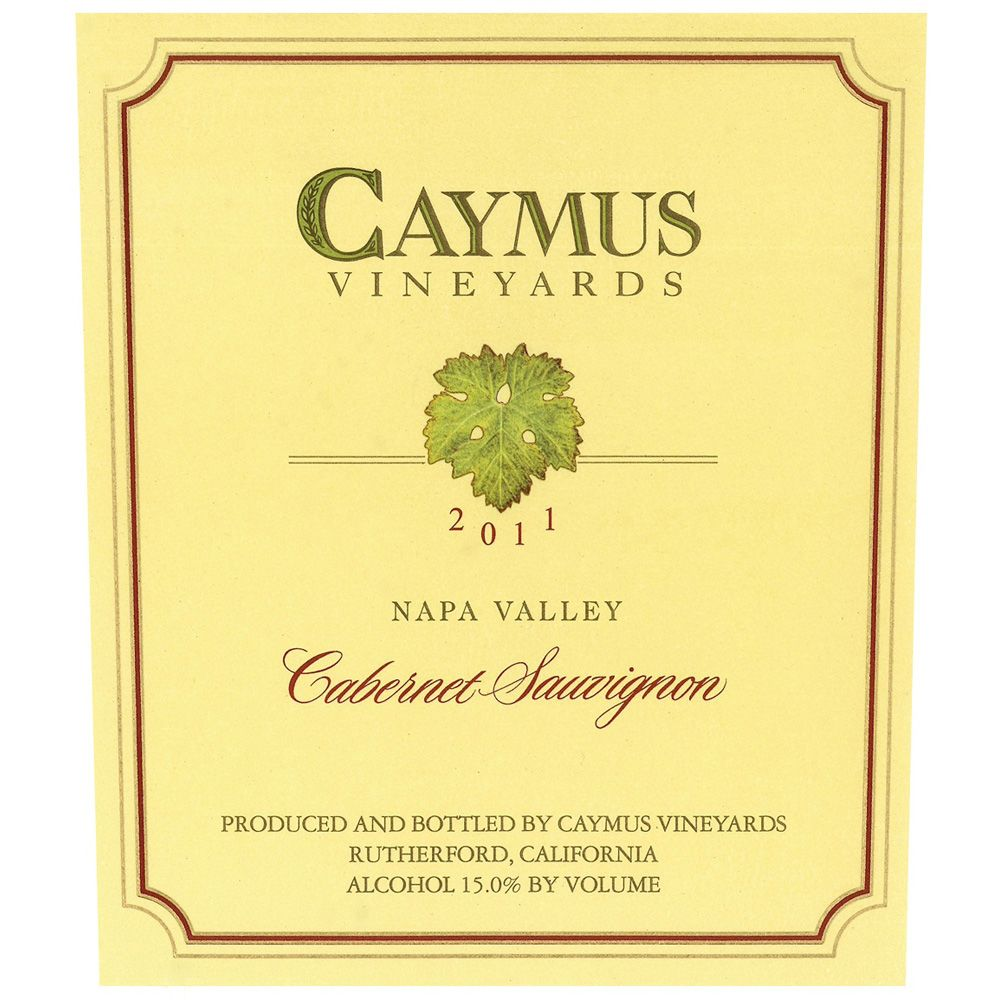 Caymus Napa Valley Cabernet Sauvignon (1.5 Liter Magnum - signed) 2011 Front Label