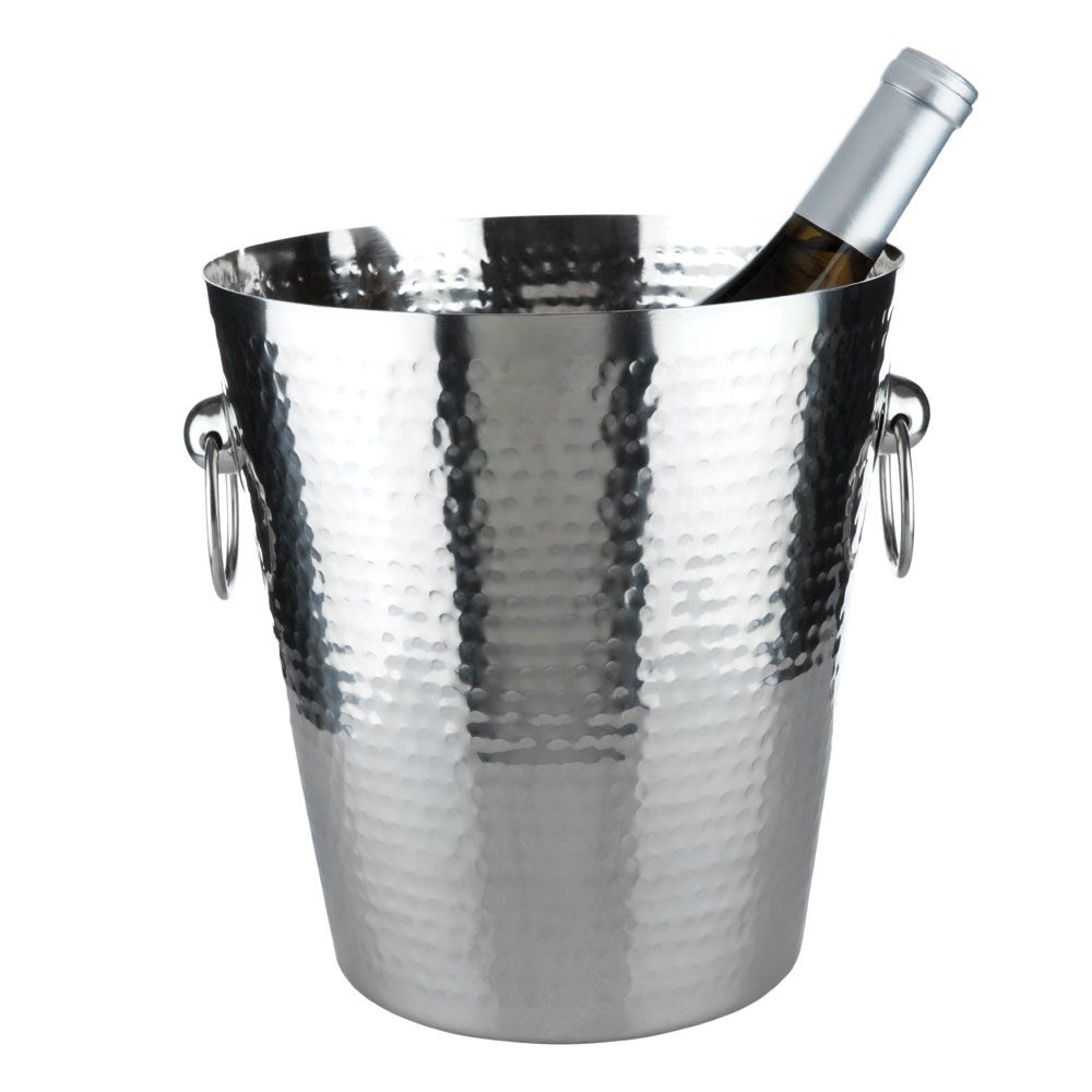 wine.com Hammered Stainless-Steel Ice Bucket Gift Product Image