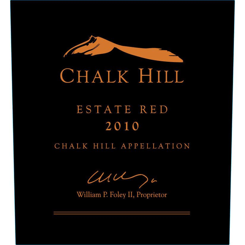 Chalk Hill Estate Red 2010 Front Label