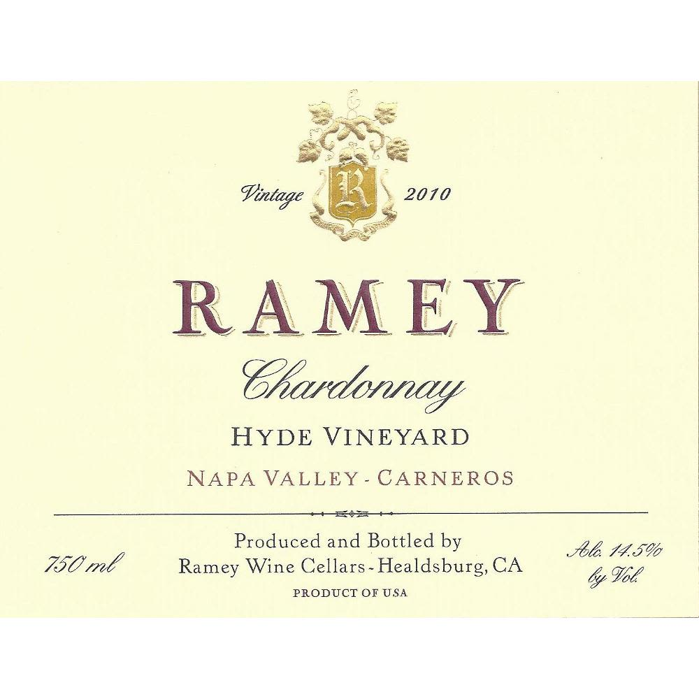 Ramey Hyde Vineyard Chardonnay 2010 Front Label