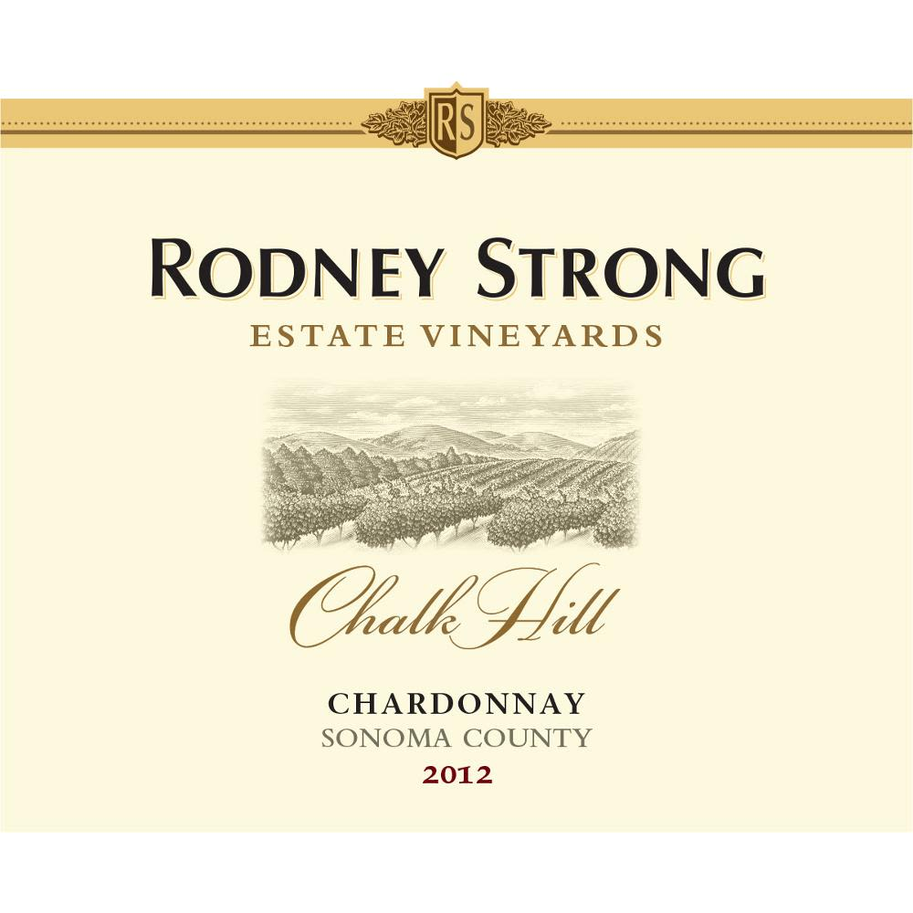 Rodney Strong Chalk Hill Chardonnay 2012 Front Label