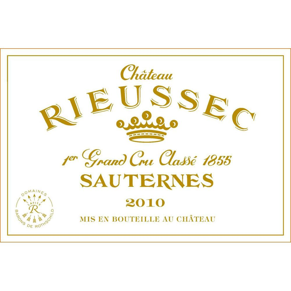 Chateau Rieussec Sauternes (375ML half-bottle) 2010 Front Label