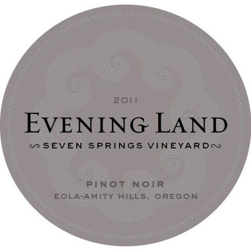 Evening Land Seven Springs Vineyard Pinot Noir 2011 Front Label