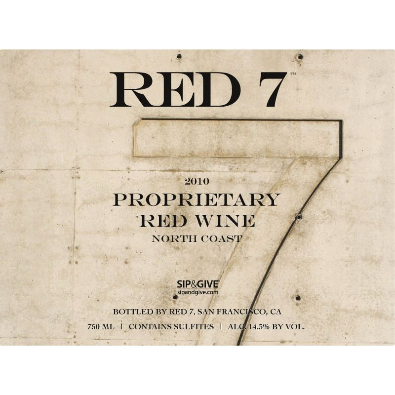 Red 7 Proprietary Red Blend 2010 Front Label