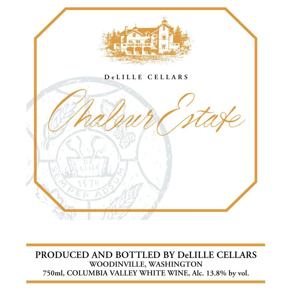DeLille Chaleur Estate Blanc 2012 Front Label