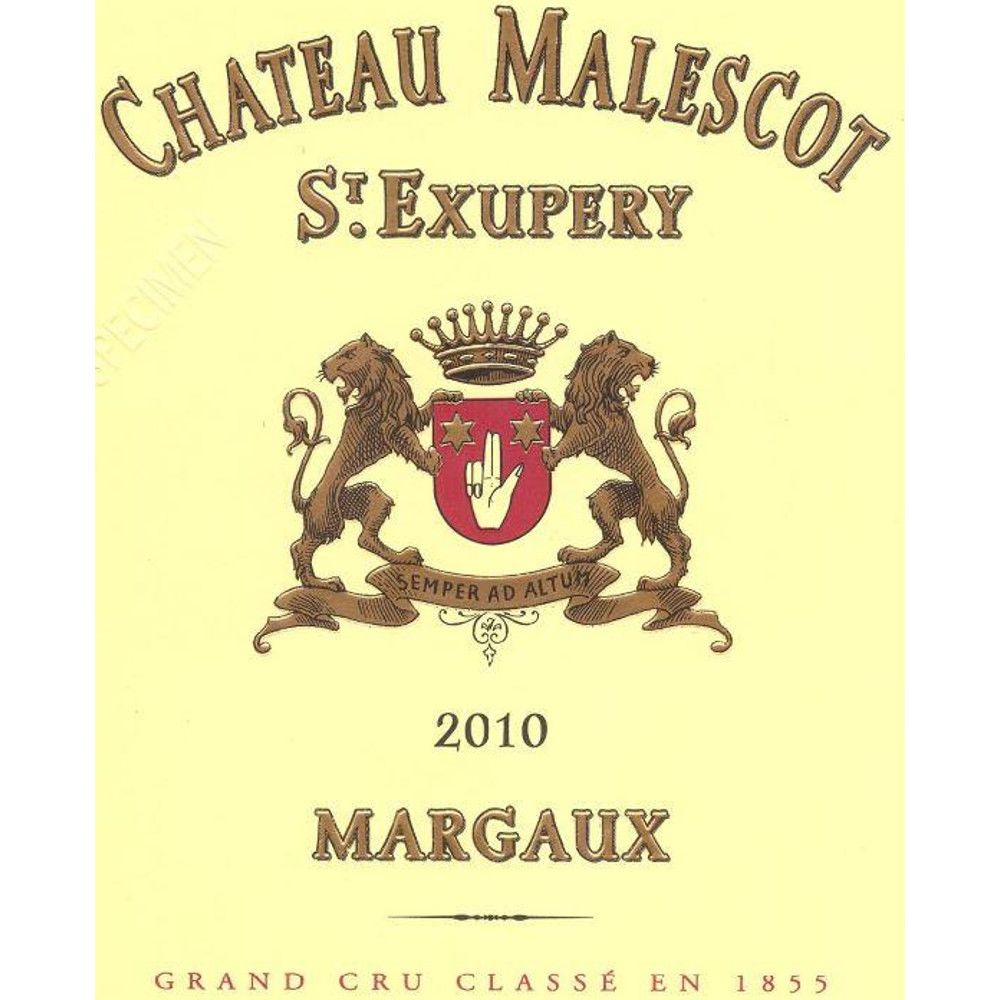 Chateau Malescot St. Exupery (1.5 Liter Magnum) 2010 Front Label