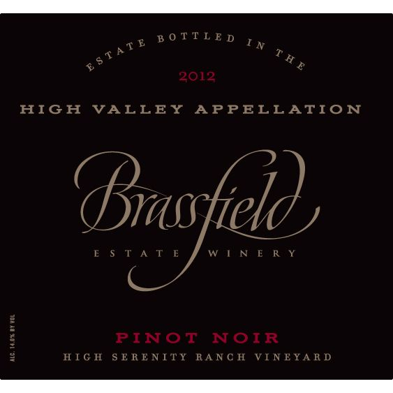 Brassfield Pinot Noir 2012 Front Label