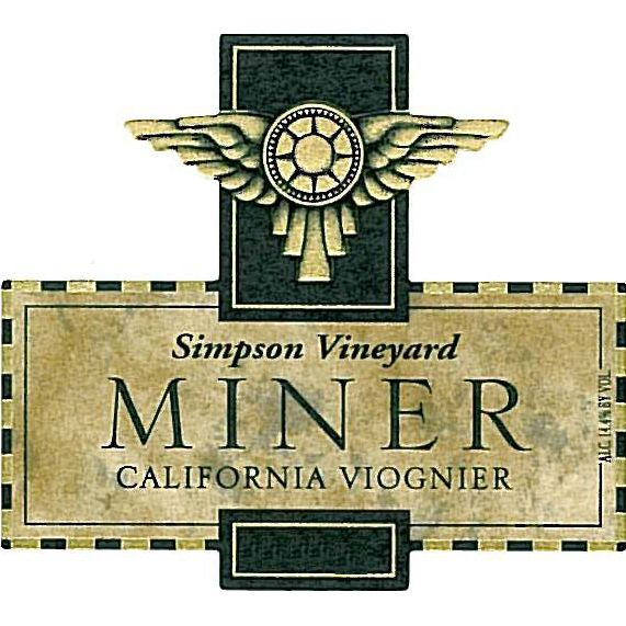 Miner Family Simpson Vineyard Viognier 2012 Front Label