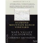 Sterling Diamond Mountain Ranch Cabernet Sauvignon 1990 Front Label