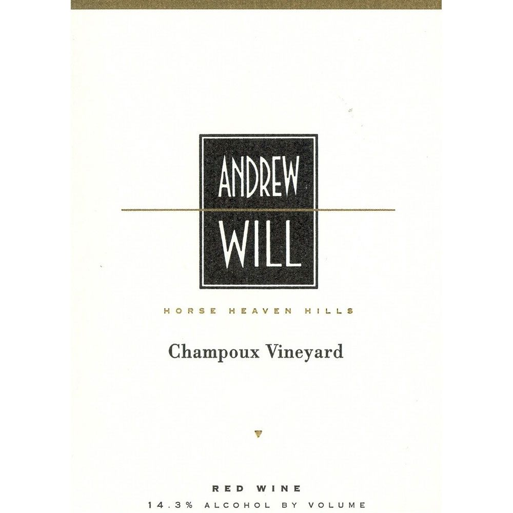 Andrew Will Winery Champoux Vineyard Horse Heaven Hills 2001 Front Label